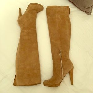 Michael Kors suede leather knee boots